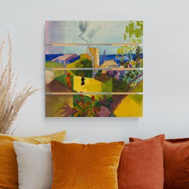 Stampa su legno - August Macke - Paesaggio By The Sea - Quadrato 1:1