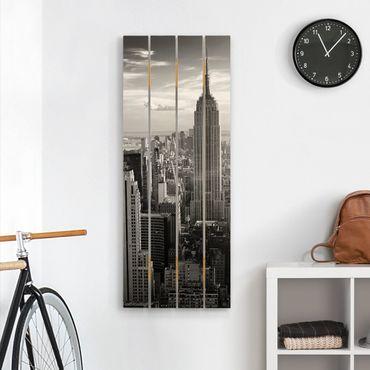 Stampa su legno - skyline di Manhattan - Verticale 5:2