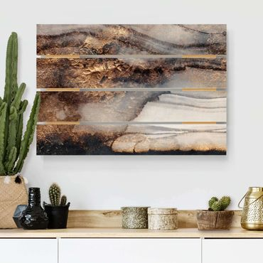 Stampa su legno - Elisabeth Fredriksson - Oro Marmo Painted - Orizzontale 2:3