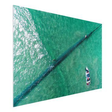 Quadro in forex - Veduta aerea - Pescatori - Orizzontale 3:2