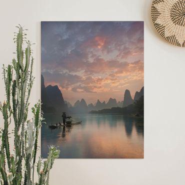 Stampa su tela - Alba sul fiume cinese - Verticale 3:4