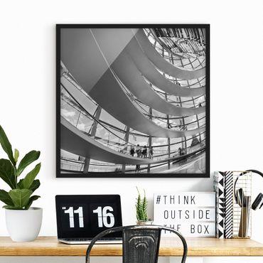 Poster con cornice - In The Berlin Reichstag II - Quadrato 1:1