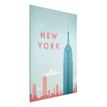 Stampa su alluminio - Poster Viaggi - New York - Verticale 4:3
