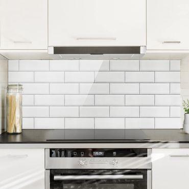 Paraschizzi in vetro - White Ceramic Tiles