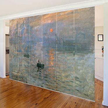 Tende scorrevoli set - Claude Monet - Impression (Sunrise)