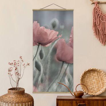 Foto su tessuto da parete con bastone - pittoreschi Poppies - Verticale 2:1
