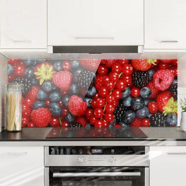 Paraschizzi in vetro - Fruity Berries - Panoramico
