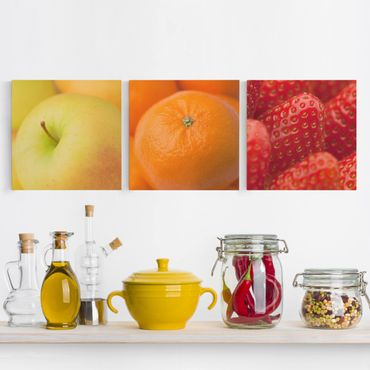 Stampa su tela 3 parti - Fresh Fruit - Quadrato 1:1