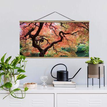 Foto su tessuto da parete con bastone - Giardino Giapponese - Orizzontale 1:2
