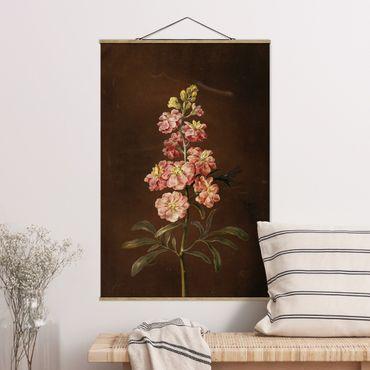 Foto su tessuto da parete con bastone - Barbara Regina Dietzsch - Un Pink Garden Levkkoje - Verticale 3:2