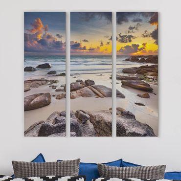 Stampa su tela 3 parti - Sunrise beach in Thailand - Pannello