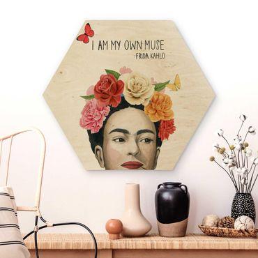 Esagono in legno - Pensieri di Frida - Muse