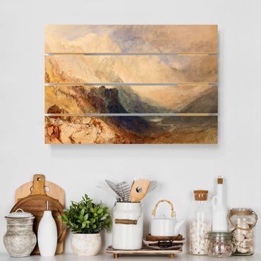 Stampa su legno - William Turner - Valle d'Aosta - Orizzontale 2:3