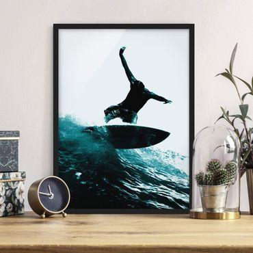 Poster con cornice - Surfing Hero - Verticale 4:3
