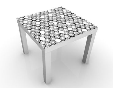 Tavolino design African Filaments Black And White