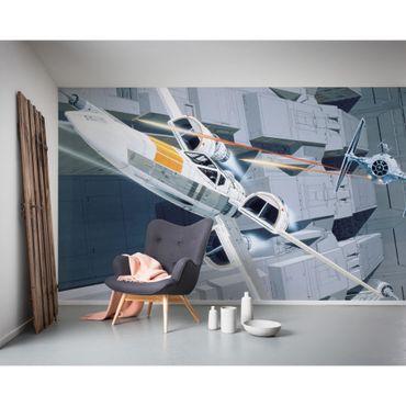 Carta da parati per bambini - Star Wars Classic RMQ X-Wing vs TIE-Fighter - Komar fotomurale