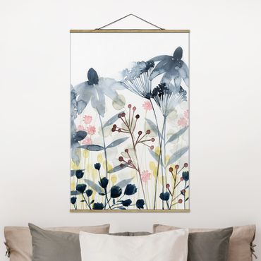 Foto su tessuto da parete con bastone - Wildflower Acquerello II - Verticale 3:2