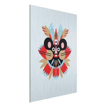 Stampa su alluminio spazzolato - Collage Mask Ethnic - mouse - Verticale 4:3
