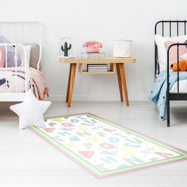 Tappeti in vinile - Alfabeto in colori pastello con cornice - Verticale 1:2