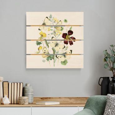 Stampa su legno - Britannico Farfalle II - Quadrato 1:1