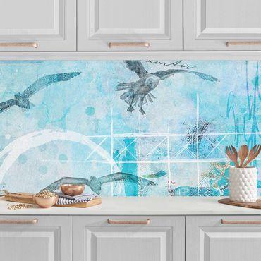 Rivestimento cucina - Colorato collage - Bluefish