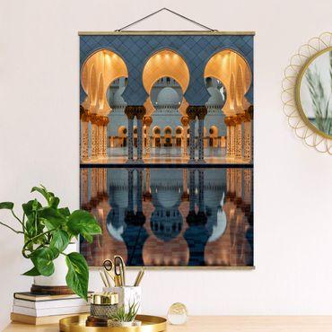 Foto su tessuto da parete con bastone - Riflessioni nella moschea - Verticale 4:3