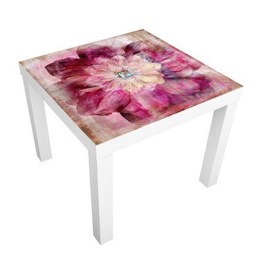 Carta adesiva per mobili IKEA - Lack Tavolino Grunge Flower