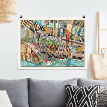 Poster - Mappa moderna Of Montreal - Orizzontale 3:4