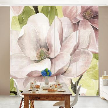 Tenda scorrevole set - Magnolia in fiore I