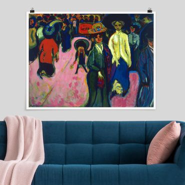 Poster - Ernst Ludwig Kirchner - Via A Dresda - Orizzontale 3:4