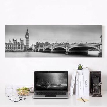 Stampa su tela - Ponte di Westminster e il Big Ben - Panoramico
