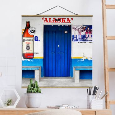 Foto su tessuto da parete con bastone - Alaska Blue Bar - Quadrato 1:1