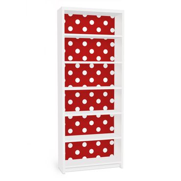 Carta adesiva per mobili IKEA - Billy Libreria - no.DS92 Dot Design Girly Red
