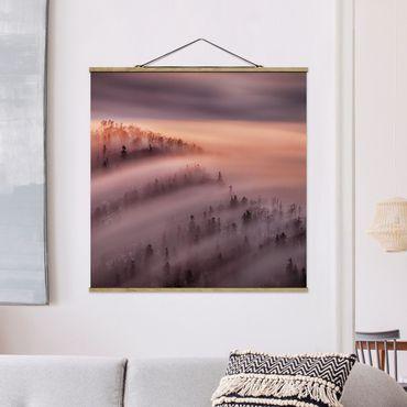 Foto su tessuto da parete con bastone - Nebbia Flood - Quadrato 1:1