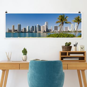 Poster - Miami Beach Skyline - Panorama formato orizzontale