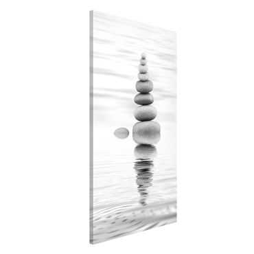 Lavagna magnetica - Torre Pietra In The Water Bianco e nero - Formato verticale 4:3