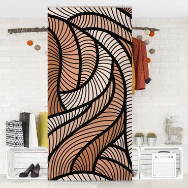 Tenda a pannello Woodcut in Brown 250x120cm