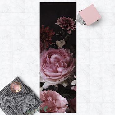 Tappeti in vinile - Rose su sfondo nero vintage - Pannello
