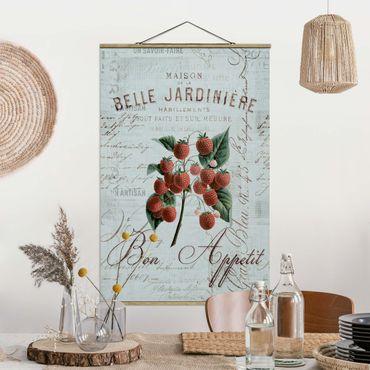 Foto su tessuto da parete con bastone - Shabby Chic Collage - Lamponi - Verticale 3:2