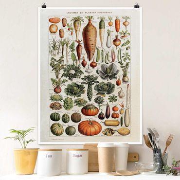 Poster - Consiglio Vintage Verdure - Verticale 4:3