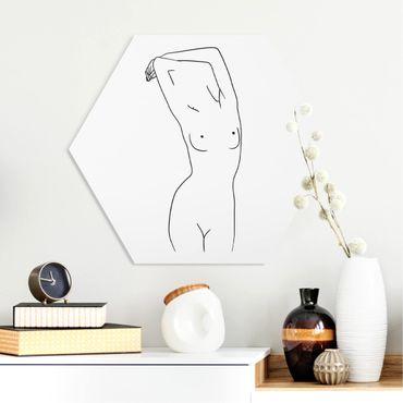 Esagono in forex - Line Art Nudo Bianco e nero