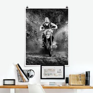 Poster - Motocross Nel Fango - Verticale 4:3