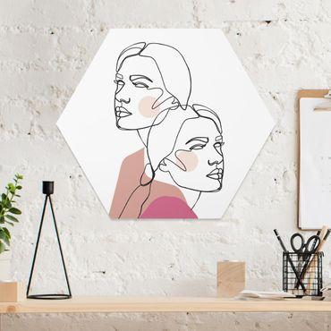 Esagono in forex - Line Art Donne del ritratto guance rosa