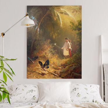 Quadri su tela - Carl Spitzweg - The Butterfly Hunter