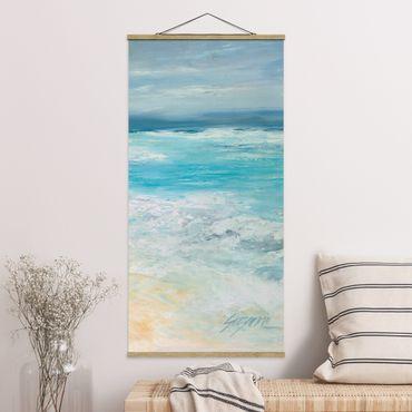 Quadro su tessuto con stecche per poster - Tempesta sul mare II - Verticale 2:1