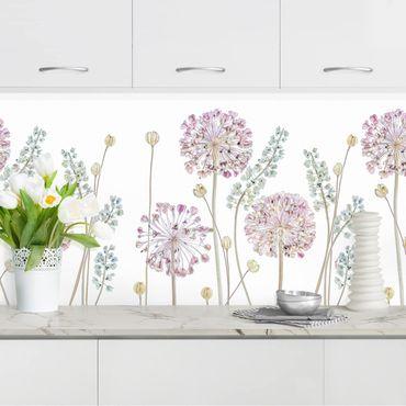 Rivestimento cucina - Fiori Allium Set II