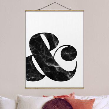 Foto su tessuto da parete con bastone - E commerciale marmo - Verticale 4:3