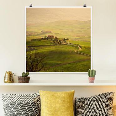 Poster - Chianti Toscana - Quadrato 1:1