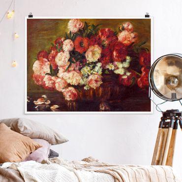 Poster - Auguste Renoir - Natura morta con peonie - Orizzontale 3:4