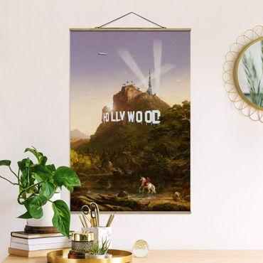 Foto su tessuto da parete con bastone - Pittura Hollywood - Verticale 3:2